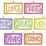 giorni della settimana mesi e stagioni in spagnolo