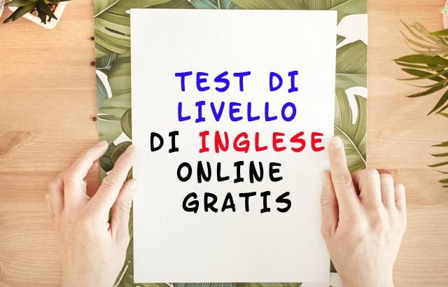 test di livello di inglese
